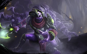Picture weapons, art, Dota 2, Faceless Void, the movement