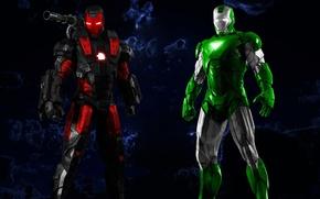 Picture cinema, gun, soldier, weapon, power, Iron Man, Marvel, movie, Green Lantern, hero, film, Mark, suit, ...