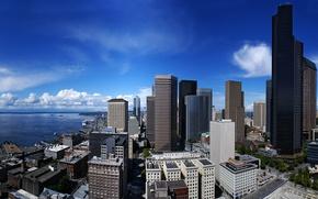 Picture skyscrapers, USA, Seattle