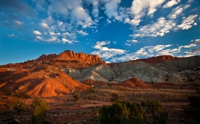 Picture the sky, mountains, rocks, Utah, USA, Capitol Reef National Park