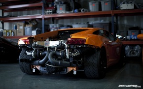 Wallpaper Lamborghini, Gallardo, repair