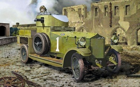 Picture art, painting, armored car, roden 803