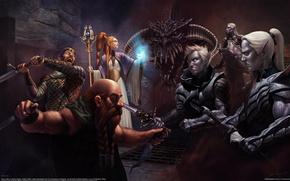 Wallpaper skull, sword, warrior, art, MAG, steve argyle, clash, drow, dark elves, dwarf