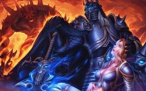 Picture diablo, warcraft, arthas, Heroes of the Storm, moba, jaina proudmoore