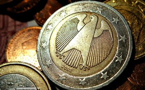 Wallpaper Coins, Coins, German, Euro, Euro
