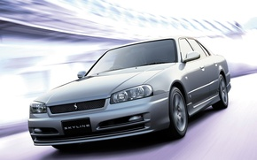 Picture Japan, Nissan, Wallpaper, Sedan, Drift, Japan, Nissan, Drift, Car, Auto, Skyline, Wallpapers, R34, Sedan, Skyline, …
