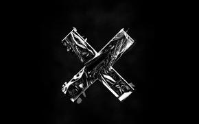 Wallpaper cross, glass, darkness