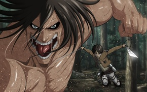 Picture sword, game, forest, soldier, big, anime, power, katana, muscles, ken, hero, asian, giant, warrior, manga, ...