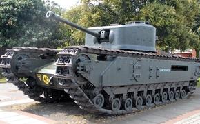 Picture tank, armor, Churchill, infantry, Churchill, Mk VI