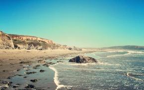 Picture beach, the ocean, morning, CA, California Beach