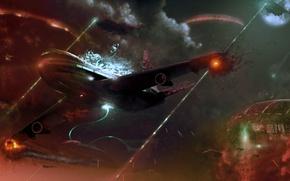 Wallpaper war, UFO, the plane