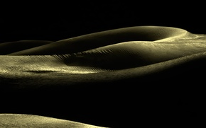 Picture sand, line, the dunes, curves