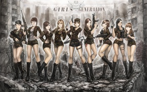Picture girls, anime, Asian girls, Girls Generation