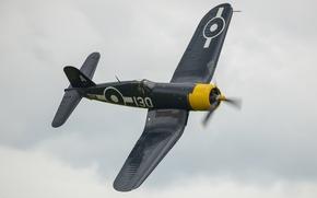 """Picture fighter, flight, Corsair, """"Le Corsaire"""", FG-1D"""