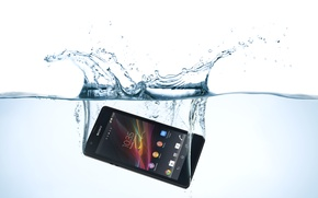 Picture sony, water, xperia, mobile