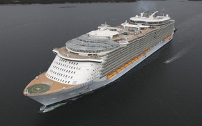 Picture Sea, White, Liner, The ship, Huge, Oasis Of The Seas, Royal Caribbean International