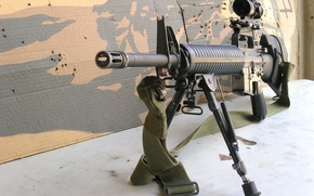 Wallpaper weapons, optics, strap, cardboard, sniper rifle
