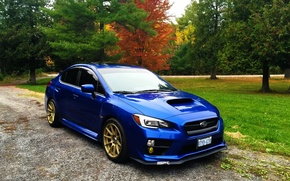 Picture Subaru, blue, wrx, sti, STI, 2014, verse