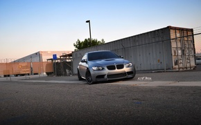 Picture black, bmw, BMW, the evening, gate, Matt, black, e92