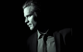 Picture black background, Hawaii, movie, American series, series, TV series, actor, film, cinema, Justified, Raylan Givens, ...