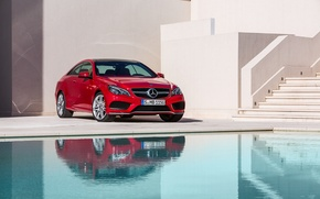Picture Mercedes-Benz, Red, E-Class, coupe, 2013