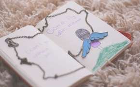 Picture labels, background, Wallpaper, mood, wings, angel, chain, girl, Notepad, chain, owner, wallpapers, diary, for your …