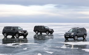 Picture the sky, snow, lake, ice, Baikal, jeep, Nissan, SUV, Nissan, Pathfinder, crossover, Patrol, X-Trail, Patrol, …