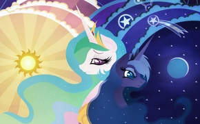 Picture my little pony, pony, mlp, princess luna, princess celestia