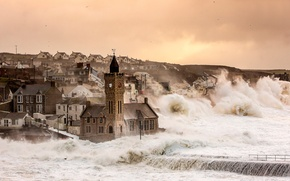 Picture storm, England, UK, Porthleven