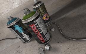 Picture paint, wire, cartridges