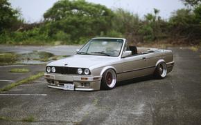 Picture bmw, BMW, grey, cabrio, e30, 320