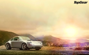 Picture glare, Porsche 911, top gear, wallpapers, telecast, top gear
