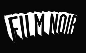 Picture the inscription, movies, black and white, minimalism, Noir, black background, black