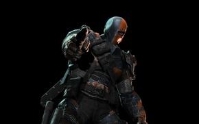 Picture weapons, mask, Batman: Arkham Origins, Slade Wilson, Batman: Arkham Origins, Deathstroke, Deathstroke, Slade Wilson