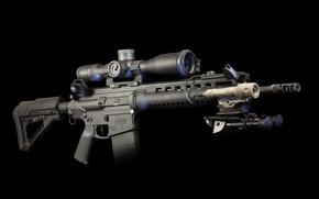 Picture weapons, background, flashlight, optics, rifle, carabiner, assault, fry, Larue Tactical, semi-automatic