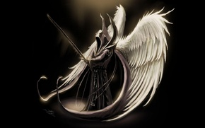 Picture Fantasy, Games, Wall, Wallpaper, Angel, Archangel
