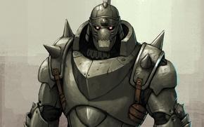 Picture anime, armor, fullmetal alchemist, art, Alphonse Elric, elric