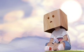 Wallpaper figure, box, boy