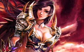 Picture fantasy, Girl, warrior, art