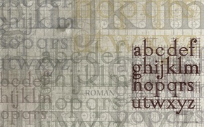 Picture letters, alphabet, layering