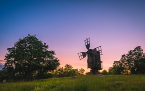 Picture sunset, nature, mill, Finland, In new hampshire