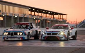 Picture race car, BMW Z4 GTLM, BMW 3.0 CSL