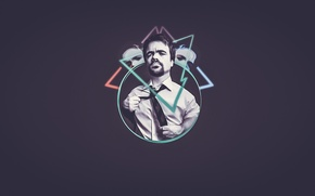 Picture welcome, minimalism, actor, evil, shirt, classic, triangle, glows, playmoshi