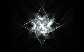 Picture line, pattern, glow, figure, fractal pattern