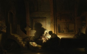 Picture picture, mythology, Rembrandt van Rijn, Holy Family