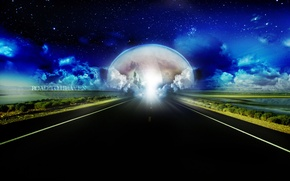 Picture the sky, asphalt, space, earth, Road