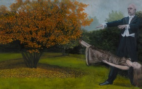Picture picture, Norwegian artist, Christer Karlstad, Levitation, Autumn for Europe- 6