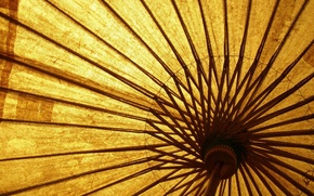 Picture yellow, umbrella, wooden