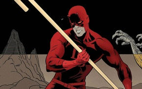 Picture red, costume, Daredevil, Daredevil