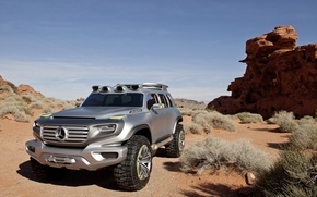 Picture Desert, Mercedes, Matt, Ener-g, Force, SUV, Mercedes Benz, Concept, The concept